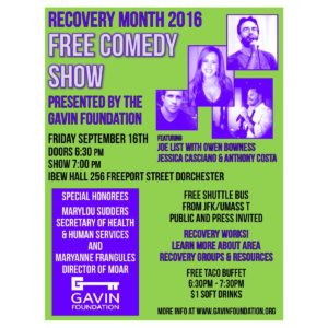 Recovery Month 2016 Flyer Square